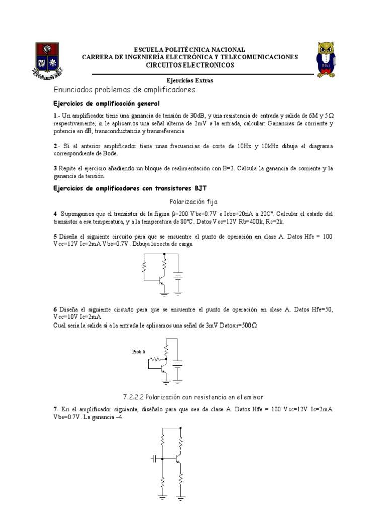 Circuito General : Ejercicios circuitos electronico 1