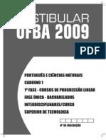 Caderno1 - Português e ciências naturais UFBA 2009