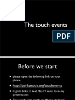 Touch Events Mobile Web Development