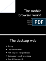 Mobile Web Browsers HTML5