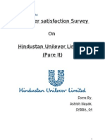 Costomer Satisfaction on HUL Pure It