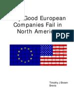 Why Good European Companies Fail in NA