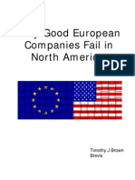 Why Good European Companies Fail in NA