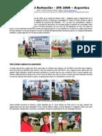 Mundial Rottweiler IFR 2008, Buenos Aires, Argentina
