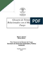glosario MANEJO FUEGO ESPAÑA