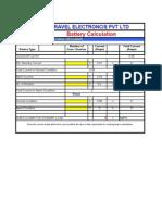 Ravel Battery Calculation