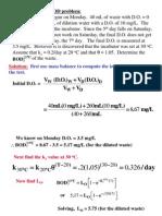 BOD Example Problem(2011)