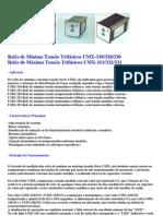 Relés de Subtensão Trifásicos UMX-330