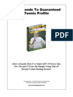 30 Seconds to Guaranteed Tennis Profit