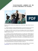 2011…………… INAUGURATION ADDRESS BY DR GOODLUCK JONATHAN, PRESIDENT OF NIGERIA