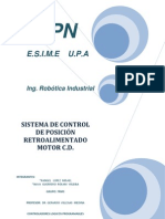 Sistema de Control de Posicion Motor C.D.