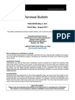 ICC Renewal Bulletin 2011-May-August