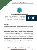 MMC Guideline 001-2009 Draft Stem Cell - 040909 Print Version2