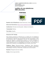 Didáctica Educomunicación - Descripción de una Plataforma Web Educativa