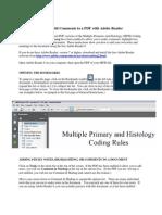 Adding PDF Comments