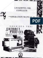 Palm Kernel Oirl Expeller Model BL-101-K-Operation Manual