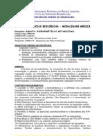 BQM129 - Bioenergética e Metabolismo