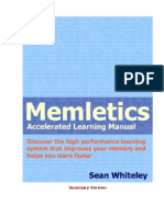 Memletics Accelerated Learning Manual - Sean Whiteley