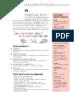 Textile Seals Data Sheet