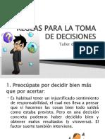 Reglas Para La Toma de Decisiones