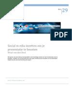 Social Media Inzetten Om Je Presentatie Te Boosten