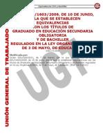 Equivalencias Titulaciones ESO y Bachiller Actualizado 14 3 2011