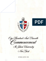 St. John's University Commencement Program, June 1981
