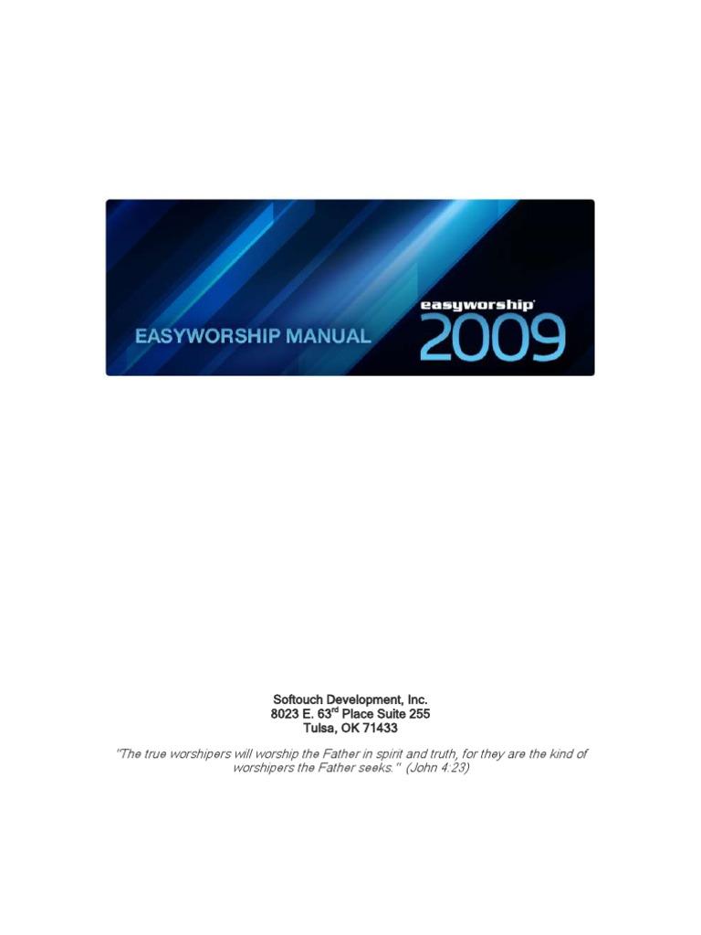 keygen para easyworship 2009