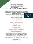 SIWES Technical Report Format CU