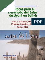 Litio en Bolivia Dr. Escalera
