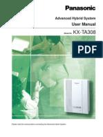 KX-TA308 User Manual