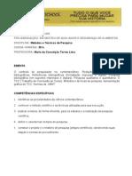 Programa de disciplina da  pós em Metodologia
