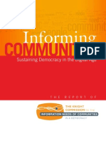 Informing Communities Sustaining Democracy in the Digital Age