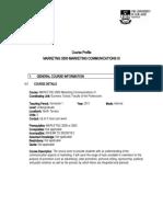 MARKETNG 3500 Marketing Communications III Sem1 2011(1)