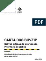Relatório  Metodologia de identificação e construção da Carta dos BIP-ZIP