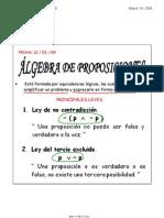 Algebra Proposiciones