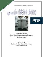 Esterilizacion por calor humedo ( autoclave).