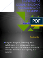 SINDROME DE CONDENSACIÓN O CONSOLIDACIÓN PULMONAR