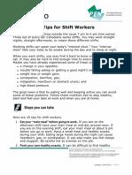 Nutrition Shift Work