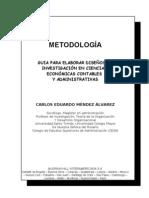Caratula libro metodología