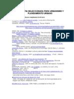 Bibliografia Seleccionada Para Urbanismo y to Urbano