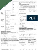 Algebra II Cheat Sheet
