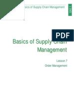 Basics of Supply Chain Managment (Lesson 7)