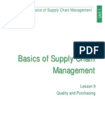 Basics of Supply Chain Managment (Lesson 9)