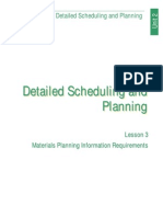 Detailed Scheduling and Planning (Lesson 3)