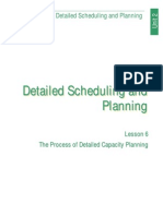 Detailed Scheduling and Planning (Lesson 6)