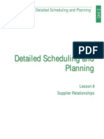 Detailed Scheduling and Planning (Lesson 8)