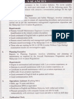 Aviation Industry Vacancy