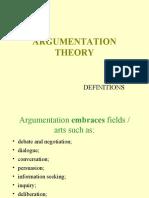 Argumentation Theory - Presentation