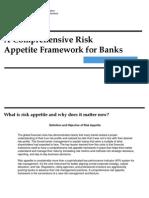 Risk Appetite Framework